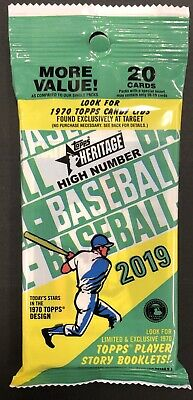 VLADIMIR GUERRERO JR! ROOKIE HOT PACK 2019 Topps Heritage HIGH NUMBER RC #504