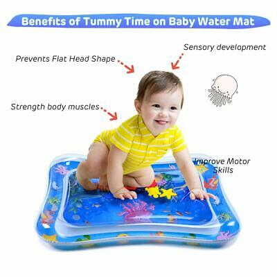 Inflatable Water Play Mat Infants Baby Toddlers Kid Fun Cushion Tummy Time 66X50