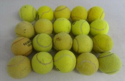 Job lot of 20 used Tennis Balls - various conditions
