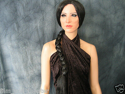 Latex Rubber Mask LADY +LASHES +BRAID WIG - Real. Female Woman Face Crossdresser