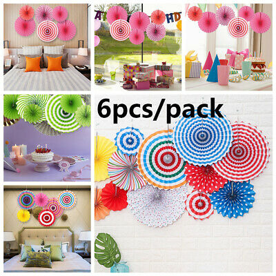 Home Decor Tissue Flower Crafts Paper Fan Party Banner Wall Hanging Pendant