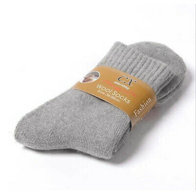 1Pair Wool Cashmere Men Dress Casual Socks Warm Winter Thick Comfort Socks bid j