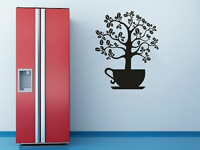 Coffee bean cup Wall art stickers murals decals 461