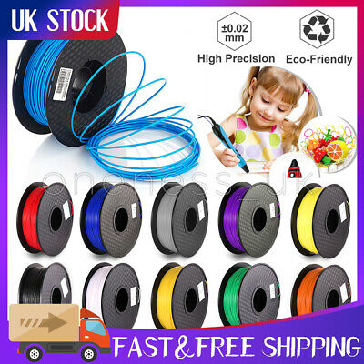 Premium 3D Printer Filament 1kg/2.2lb 1.75mm PLA ABS PETG TPU Wood MakerBot UK