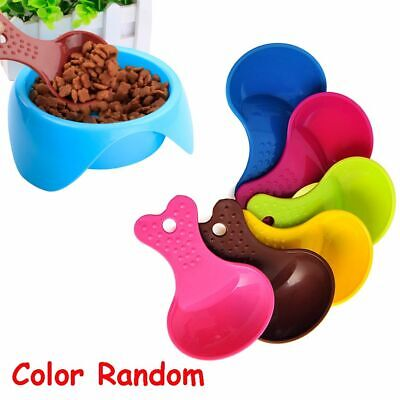 Environmental Candy Color Cat Puppy Food Spoon Dog Feeder Shovel Resin Plastic