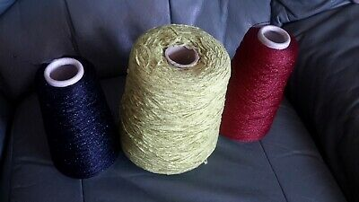 3 Cones of Machine Knitting Yarn