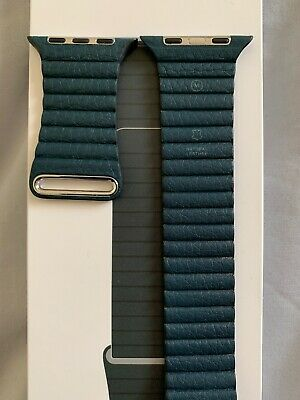 GENUINE APPLE WATCH  - FOREST GREEN LEATHER LOOP STRAP - 44mm M