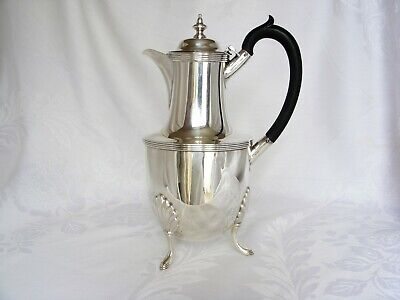 Victorian Stylish Solid Silver Hot Water Jug / Coffee Pot –Sheffield 1891
