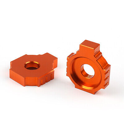 CNC Rear Axle Spindle Chain Adjuster Blocks For KTM Duke 125 200 390 GB