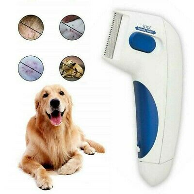 Electric Head Lice Nit Comb Flea Doctor Removal For Dogs & Cats Pets Brush