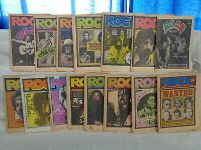 Rock Magazine LOT 15 issues from 1970-1973! Vintage Music Newspaper (m 996)