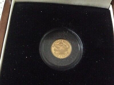 2010 Battle Of Britain One Crown 22 Carat Gold Proof Commemorative Coin