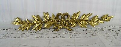 Antique French Gilded Bronze Furniture Pediment Decoration - Ribbon Louis XVI