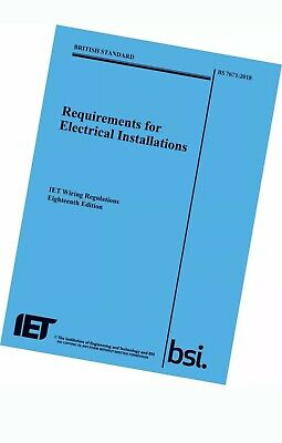 IET 18th Ed Wiring Regulation Book - BS 7671:2018 Electrical Regs BLUE plus OSG