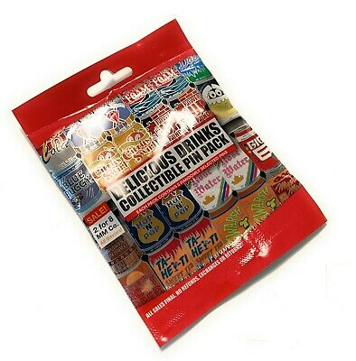 Disney Parks Delicious Drinks Soda Cans Mystery 5 Pc Pin Pack Bag Sealed - NEW