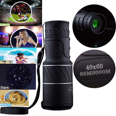 40x60 HD Day & Night Vision Optical Monocular Hunting Camping Hiking Telescope