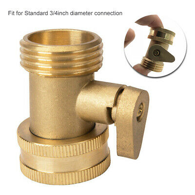 3/4'' inch Garden Hose 1 Way Shut Off Valve Water Pipe Faucet Connector Tool