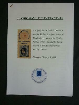 CLASSIC SIAM: THE EARLY YEARS - A DISPLAY AT THE RPS by PRAKOB CHIRAKITI