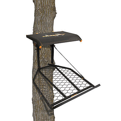 Muddy The Boss XL Wide Stance Hang On 1 Person Deer Hunting Tree Stand Platform