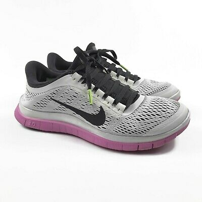 NIKE FREE 3.0 V5 Women's Running Shoes Size 6 in Gray and