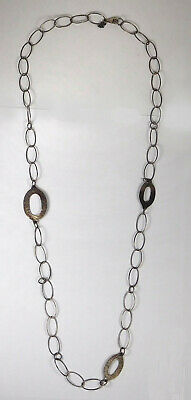 Vintage Silpada Chain Link Hammered Sterling Silver Necklace