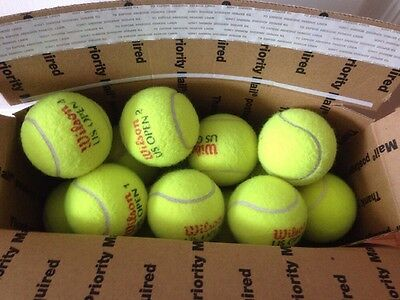 40 Indoor Used Tennis Balls- Very Good Condition! Wow Lqqk Here!