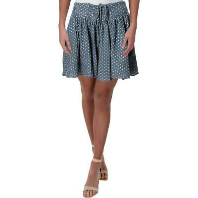 Free People Womens Meet Your Match Blue Printed Casual Shorts L BHFO 6475