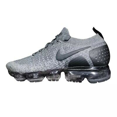 Nike Air Vapormax Flyknit 2 Dark Grey Black White Mens Size 12 Rare 942842-002