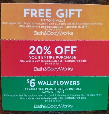 3 Bath & Body Works coupons
