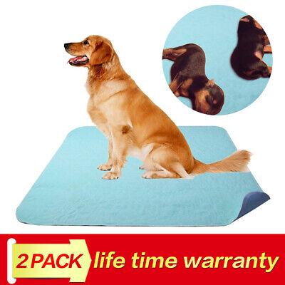 """2 Pack Pet Puppy Training Pee Pad For Dog Cat Disposable 41""""x 36"""" Washable"""