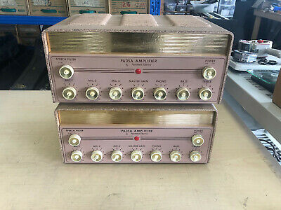 Pair Northern Western Electric PA35A EL34 Mono Tube amplifiers Hifi Working!