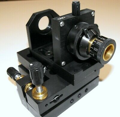 Nice Newport Fiber Optic Mount & Precision Tilt Stage