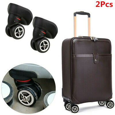 2x Heavy Duty A08 Mute Wheels 360° Swivel Castors for Luggage Trolley Case New