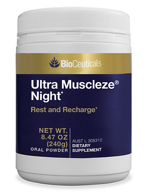 BioCeuticals Ultra Muscleze Night Magnesium Oral Powder Stress Response 240G
