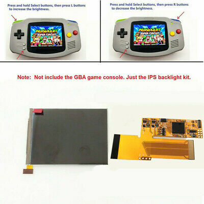 GBA 10 Levels Brightness IPS Backlight LCD For Game Boy Advance Console V2