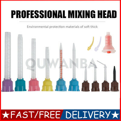 50pcs Dental Disposable Impression Dental Mixing Tips Tube Silicone Rubber Film