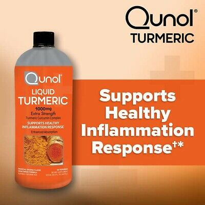 Qunol Liquid Turmeric Curcumin with Bioperine 1000mg - 40 Day Supply