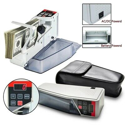 Portable Handy Bill Cash Money Count Machine Mini Banknote Currency Counter V40