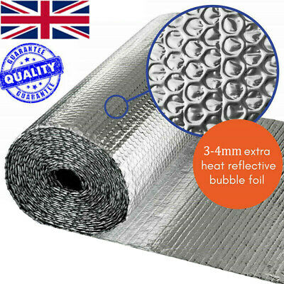 Double Aluminium Bubble Foil Insulation Thermal Loft Van Shed 10M 25M 40M 50M