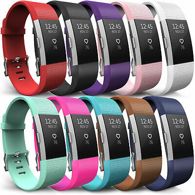 Fitbit Charge 2 Strap Sports Wrist Band Silicone Soft Replacement Small Large