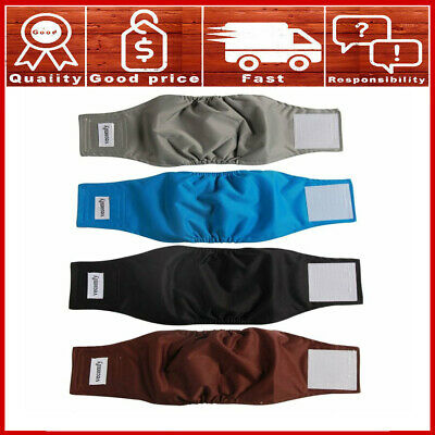Washable Belly Bands for Male Dogs(4 Pack),Premium Reusable Large Dog Wrap