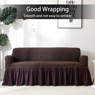 """27""""/90"""" Stretch Chair Sofa Covers Couch Cover Plush Elastic Slipcover Protector"""