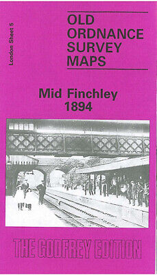 Godfrey Edition Old Ordnance Survey Maps Mid Finchley