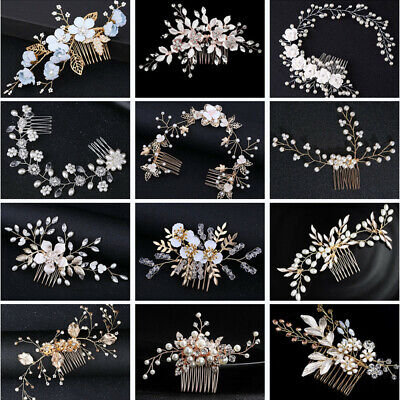 18 Style Hair Comb Flower Crystal Bridal Headdress Headpieces Hair Accessories