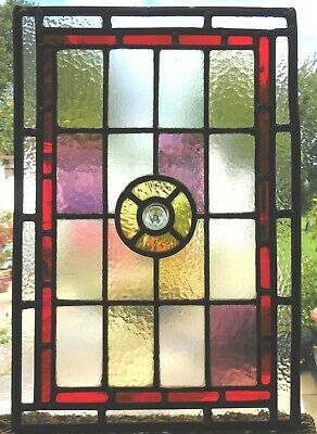 Fully Restored Antique Stained Glass Panel - Ref Sg399