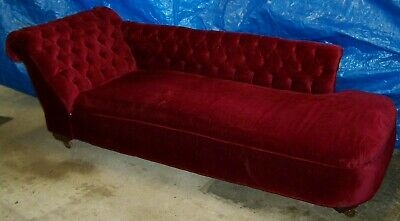George Harrison -The Beatles - Signed - Red Velvet Chaise Lounge