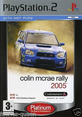 Colin McRae Rally 2005 for PS2 SONY PLAYSTATION 2 PLATINUM Manual incl.