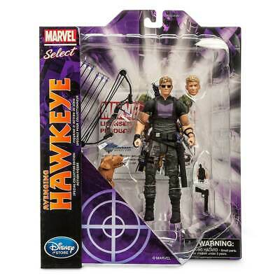 """MARVEL SELECT AVENGING HAWKEYE 7"""" ACTION FIGURE Disney Store Exclusive Avengers"""