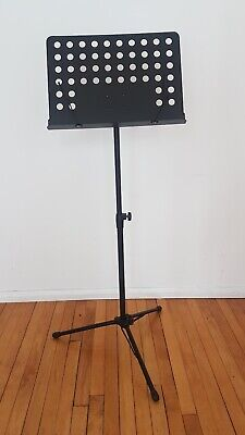 Mad About MUS27-BK Orchestral Sheet Music Stand with Page Retainers Height ...
