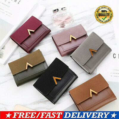 1pc Women Leather Coin Wallet Bag Lady Simple Bifold Short Small Handbag Purse